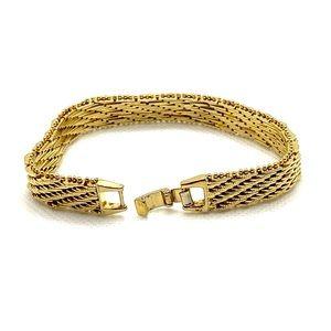 "Vintage Bracelet Gold Tone 7.25"" by 1/2"""